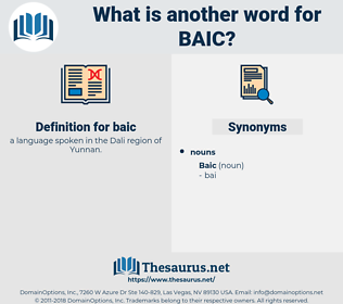baic, synonym baic, another word for baic, words like baic, thesaurus baic