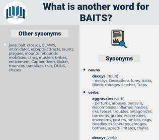 baits, synonym baits, another word for baits, words like baits, thesaurus baits