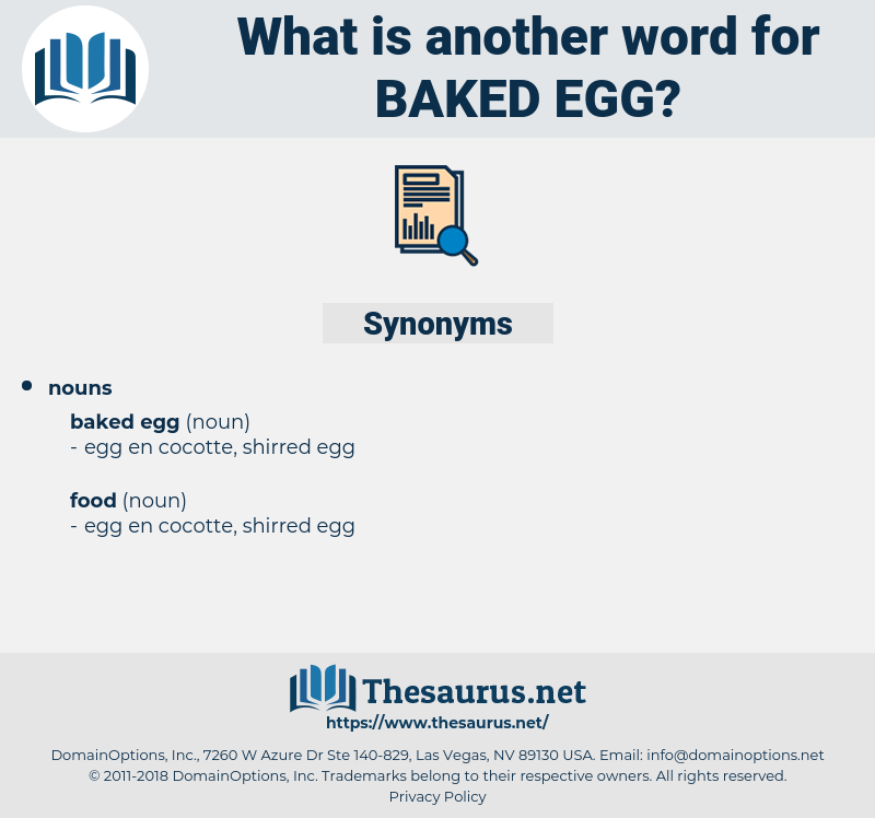 baked egg, synonym baked egg, another word for baked egg, words like baked egg, thesaurus baked egg