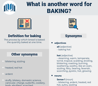 baking, synonym baking, another word for baking, words like baking, thesaurus baking
