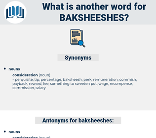 baksheeshes, synonym baksheeshes, another word for baksheeshes, words like baksheeshes, thesaurus baksheeshes