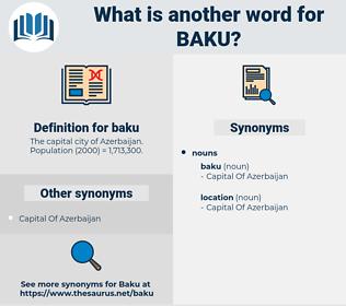 baku, synonym baku, another word for baku, words like baku, thesaurus baku
