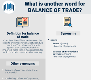 balance of trade, synonym balance of trade, another word for balance of trade, words like balance of trade, thesaurus balance of trade