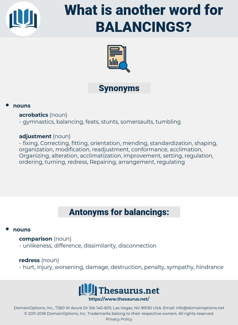 balancings, synonym balancings, another word for balancings, words like balancings, thesaurus balancings