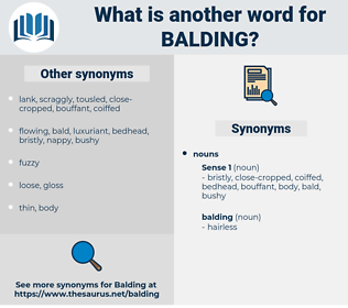 balding, synonym balding, another word for balding, words like balding, thesaurus balding