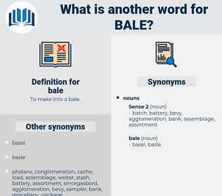 bale, synonym bale, another word for bale, words like bale, thesaurus bale