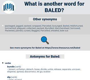 Baled, synonym Baled, another word for Baled, words like Baled, thesaurus Baled