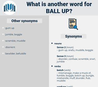 ball up, synonym ball up, another word for ball up, words like ball up, thesaurus ball up