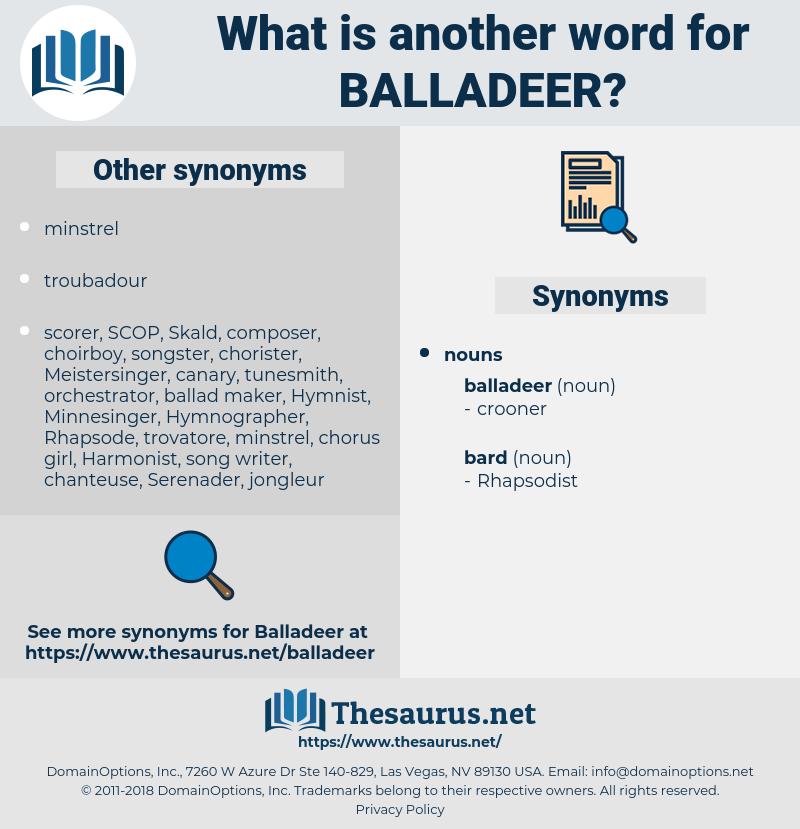 balladeer, synonym balladeer, another word for balladeer, words like balladeer, thesaurus balladeer