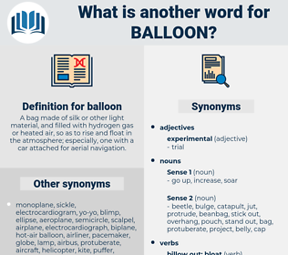 balloon, synonym balloon, another word for balloon, words like balloon, thesaurus balloon