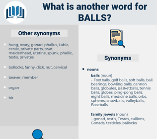 balls, synonym balls, another word for balls, words like balls, thesaurus balls