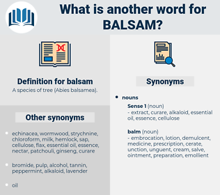 balsam, synonym balsam, another word for balsam, words like balsam, thesaurus balsam