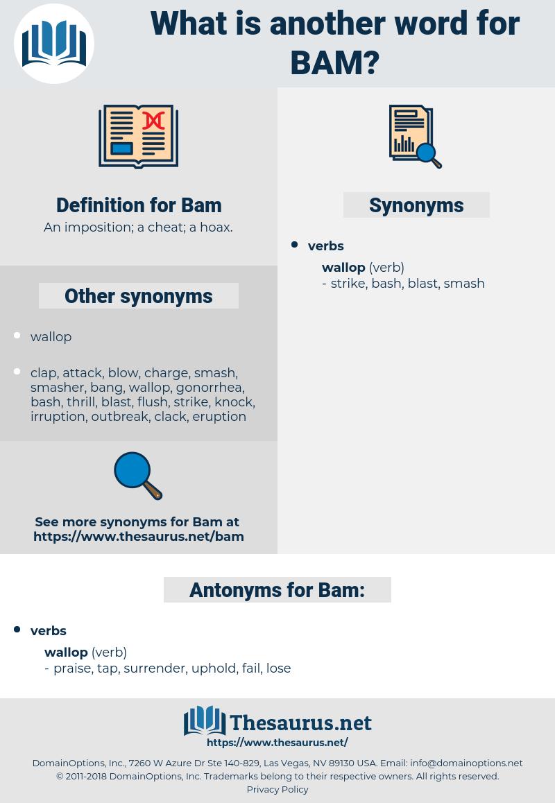 Bam, synonym Bam, another word for Bam, words like Bam, thesaurus Bam
