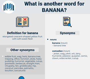 banana, synonym banana, another word for banana, words like banana, thesaurus banana