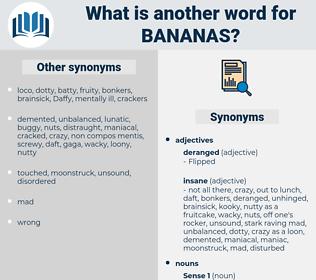 bananas, synonym bananas, another word for bananas, words like bananas, thesaurus bananas