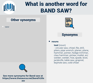 band saw, synonym band saw, another word for band saw, words like band saw, thesaurus band saw