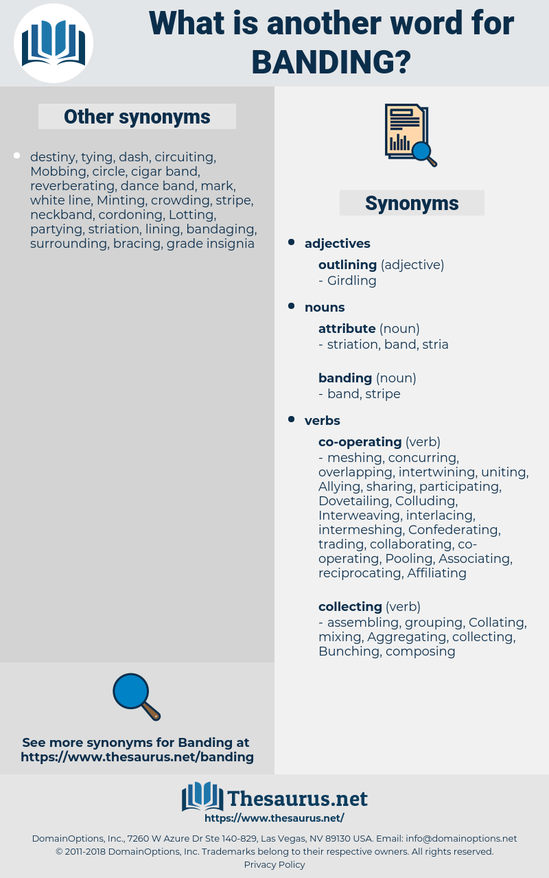 banding, synonym banding, another word for banding, words like banding, thesaurus banding
