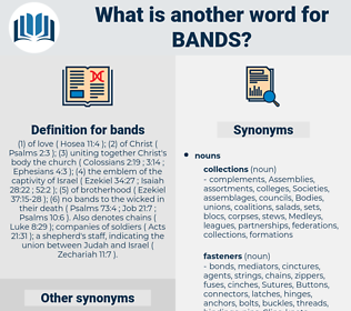 bands, synonym bands, another word for bands, words like bands, thesaurus bands