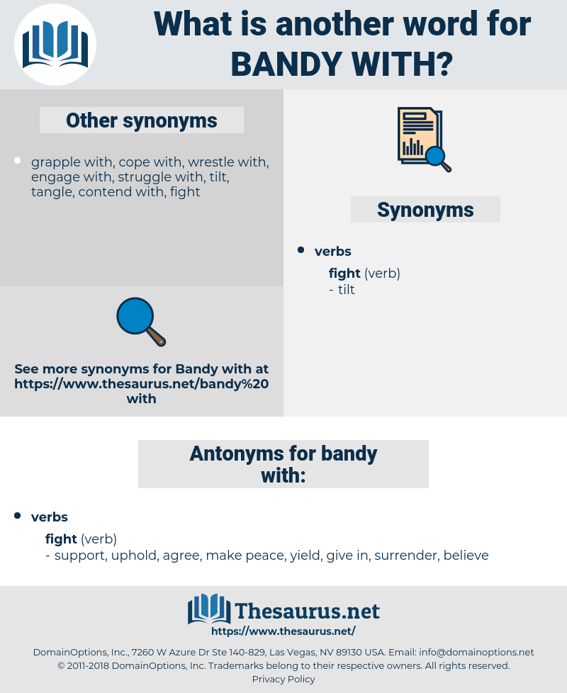 bandy with, synonym bandy with, another word for bandy with, words like bandy with, thesaurus bandy with