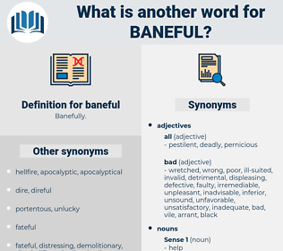 baneful, synonym baneful, another word for baneful, words like baneful, thesaurus baneful