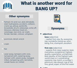 bang-up, synonym bang-up, another word for bang-up, words like bang-up, thesaurus bang-up