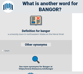bangor, synonym bangor, another word for bangor, words like bangor, thesaurus bangor