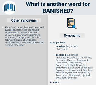 Banished, synonym Banished, another word for Banished, words like Banished, thesaurus Banished