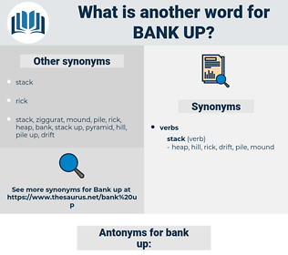 bank up, synonym bank up, another word for bank up, words like bank up, thesaurus bank up