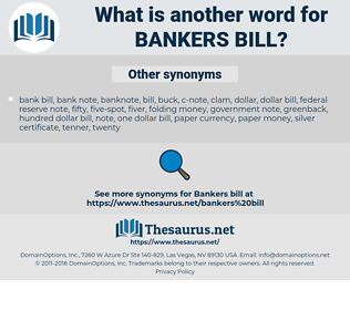 bankers bill, synonym bankers bill, another word for bankers bill, words like bankers bill, thesaurus bankers bill
