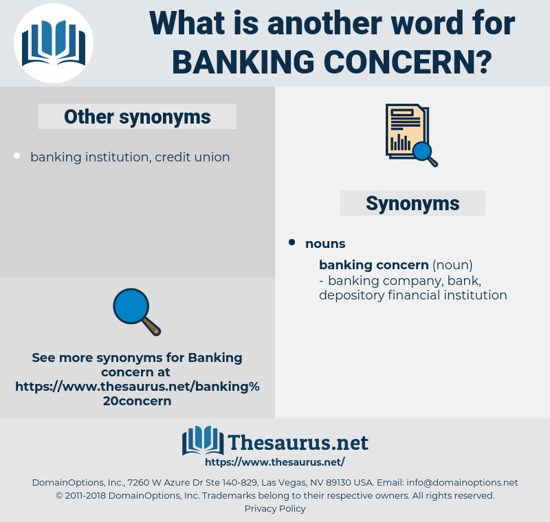 banking concern, synonym banking concern, another word for banking concern, words like banking concern, thesaurus banking concern