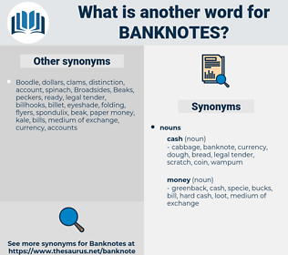 banknotes, synonym banknotes, another word for banknotes, words like banknotes, thesaurus banknotes
