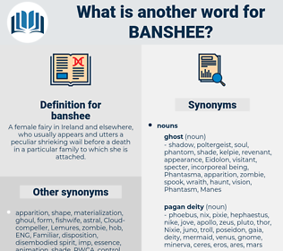 banshee, synonym banshee, another word for banshee, words like banshee, thesaurus banshee