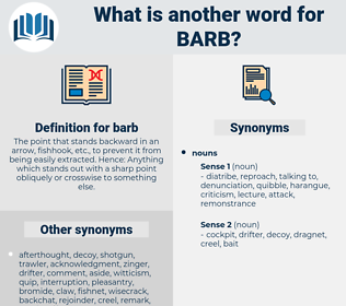 barb, synonym barb, another word for barb, words like barb, thesaurus barb