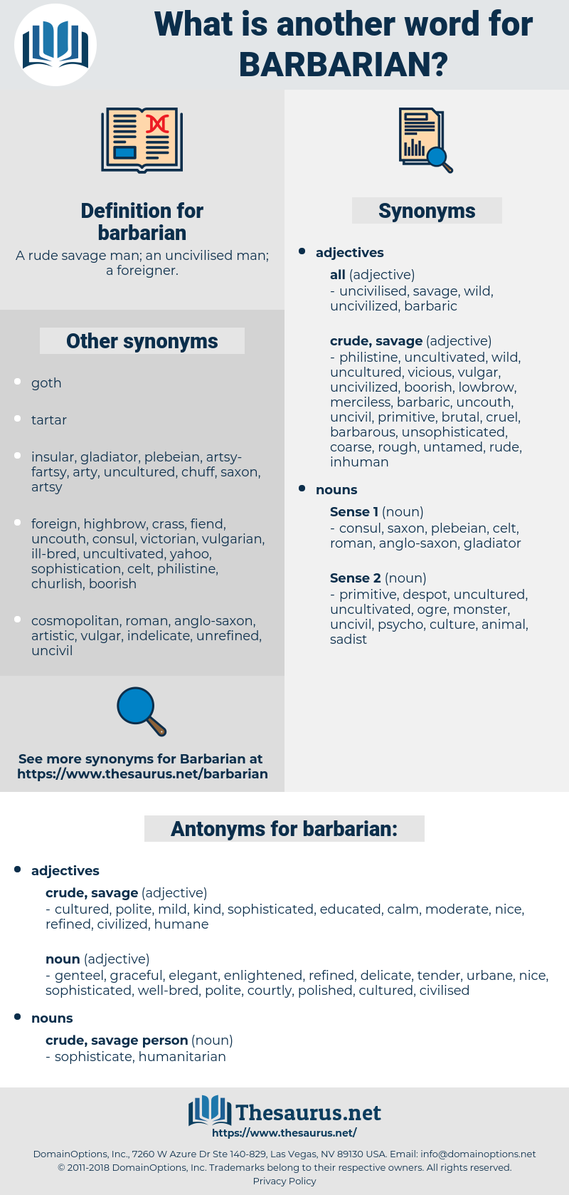 barbarian, synonym barbarian, another word for barbarian, words like barbarian, thesaurus barbarian