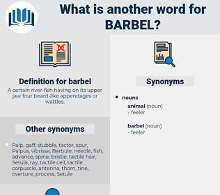 barbel, synonym barbel, another word for barbel, words like barbel, thesaurus barbel