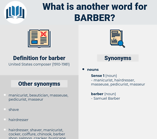 barber, synonym barber, another word for barber, words like barber, thesaurus barber