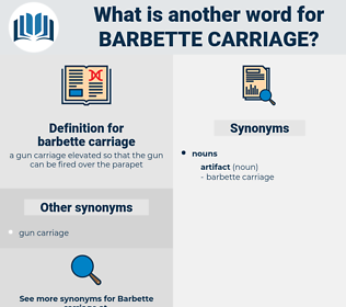 barbette carriage, synonym barbette carriage, another word for barbette carriage, words like barbette carriage, thesaurus barbette carriage