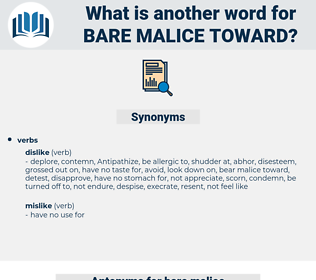 bare malice toward, synonym bare malice toward, another word for bare malice toward, words like bare malice toward, thesaurus bare malice toward