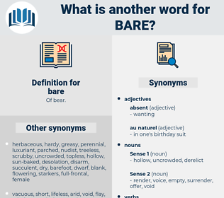 bare, synonym bare, another word for bare, words like bare, thesaurus bare