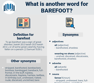barefoot, synonym barefoot, another word for barefoot, words like barefoot, thesaurus barefoot