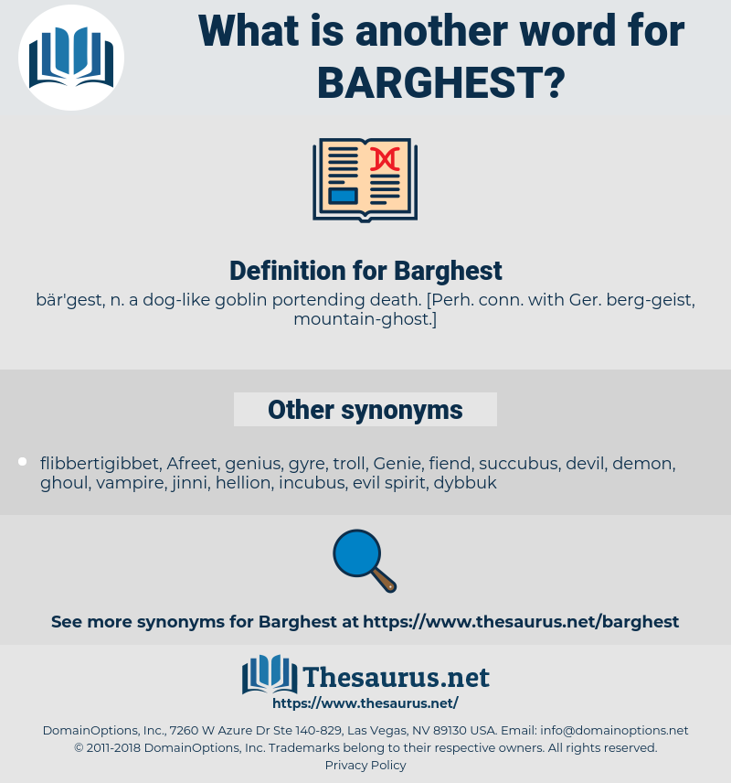 Barghest, synonym Barghest, another word for Barghest, words like Barghest, thesaurus Barghest