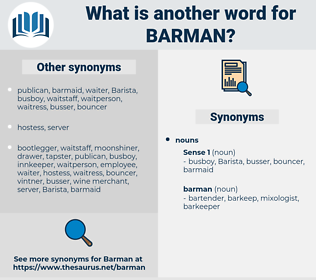 barman, synonym barman, another word for barman, words like barman, thesaurus barman