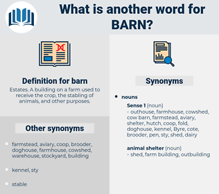 barn, synonym barn, another word for barn, words like barn, thesaurus barn