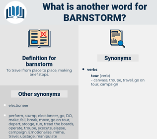 barnstorm, synonym barnstorm, another word for barnstorm, words like barnstorm, thesaurus barnstorm