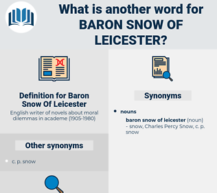 Baron Snow Of Leicester, synonym Baron Snow Of Leicester, another word for Baron Snow Of Leicester, words like Baron Snow Of Leicester, thesaurus Baron Snow Of Leicester