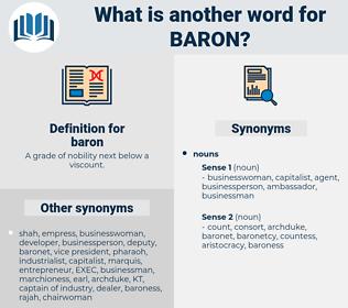 baron, synonym baron, another word for baron, words like baron, thesaurus baron