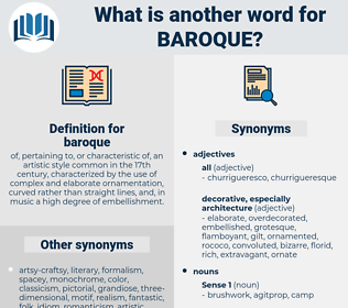 baroque, synonym baroque, another word for baroque, words like baroque, thesaurus baroque