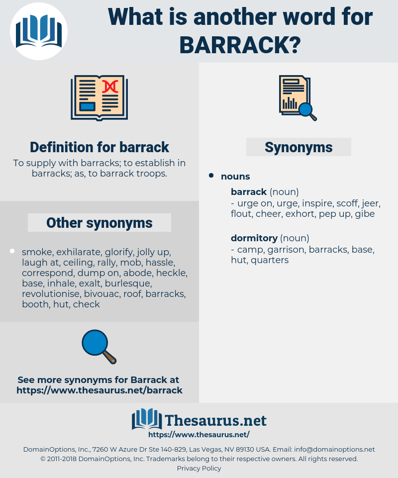 barrack, synonym barrack, another word for barrack, words like barrack, thesaurus barrack