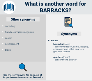 barracks, synonym barracks, another word for barracks, words like barracks, thesaurus barracks