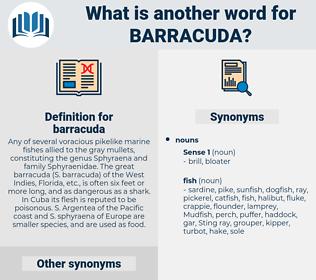 barracuda, synonym barracuda, another word for barracuda, words like barracuda, thesaurus barracuda